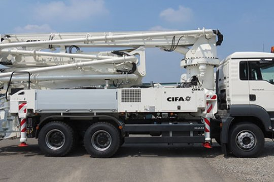 K31L Truck-Mounted Concrete Boom Pump