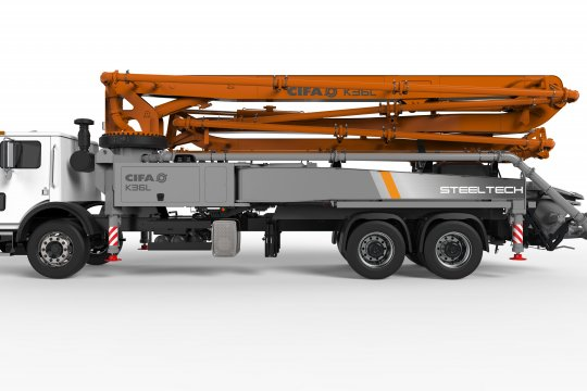 K36L Truck-Mounted Concrete Boom Pump
