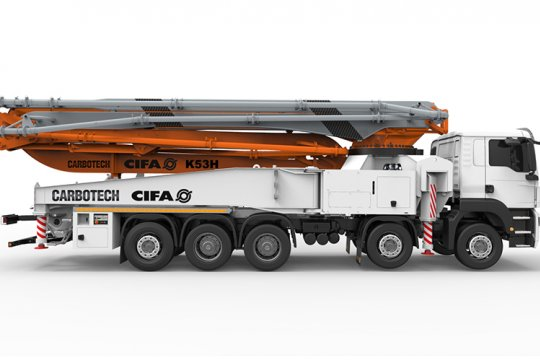 K53H Truck-Mounted Concrete Boom Pump